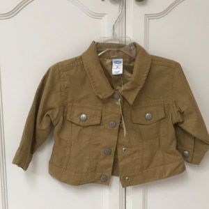 Old Navy baby 6 to 12 months brown lined jacket